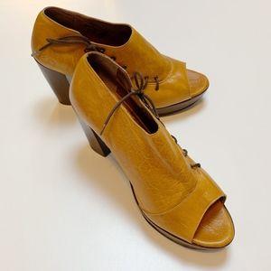 John Fluevog Ashbury Lace Up Platform Wedge Heels